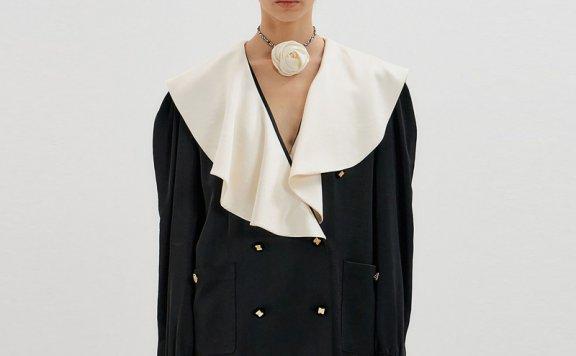 MINT HOUSE 韩国设计师品牌E21秋冬 荷叶边长袖宽松衬衫正品