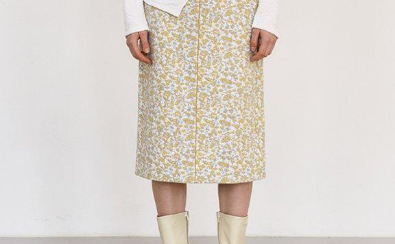 正品代购韩国设计师品牌MAISONMARAIS 21秋冬 碎花针织半身裙直邮