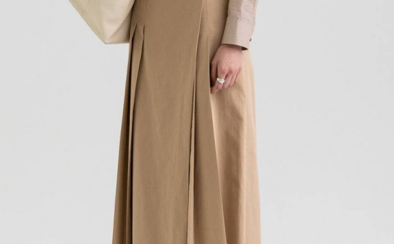 KINDERSALMON 21秋冬 韩国设计师品牌 棉质百褶层次感半身裙直邮