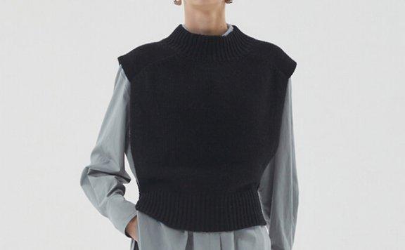 HAE BY HAEKIM 韩国设计师品牌 21秋冬 半高领针织背心套头衫直邮