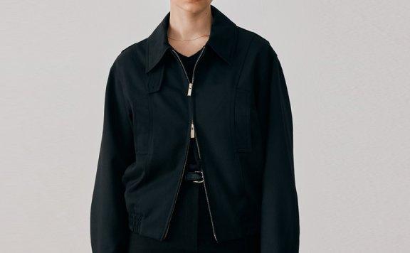 Dunst 韩国设计师品牌 2021秋冬 尖领廓形羊毛束腰短款夹克外套