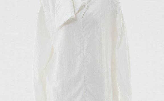 HAE BY HAEKIM 韩国设计师品牌 21秋冬 高领不规则宽松套头衬衫