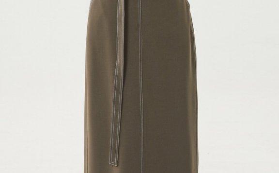 HAE BY HAEKIM 韩国设计师品牌 21秋冬 宽腰带后开叉缝线半身裙