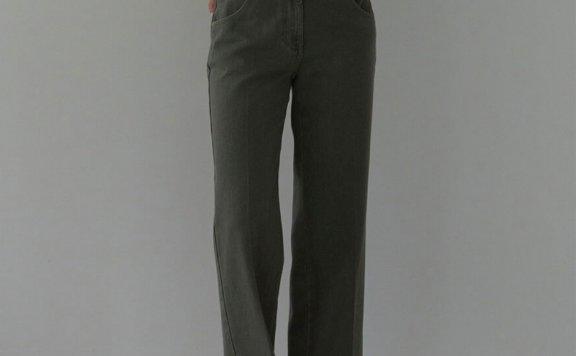 正品代购H8 21秋冬 韩国设计师品牌 2色全棉直筒休闲牛仔裤直邮