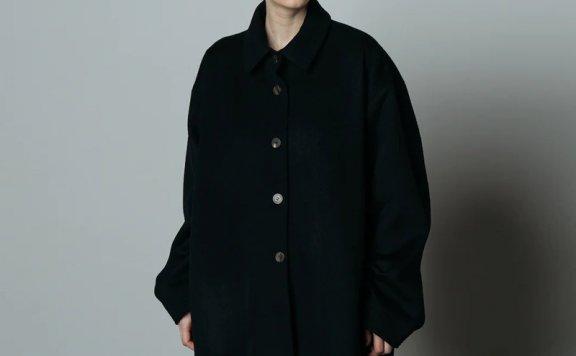 正品代购LE 17 SEPTEMBRE 21秋冬 小尖领宽松单排扣羊毛外套直邮