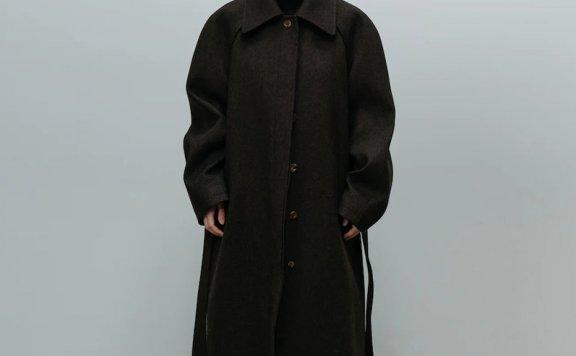 LE 17 SEPTEMBRE 21秋冬韩国设计师品牌气质长款过膝宽松毛呢外套
