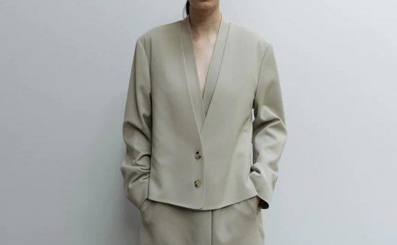 正品代购LE 17 SEPTEMBRE 21秋冬 小众设计双层两粒扣西装外套