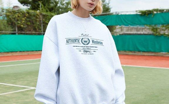 ouimaisnon 21秋冬 韩国设计师品牌 全棉罗纹圆领宽松卫衣运动衫