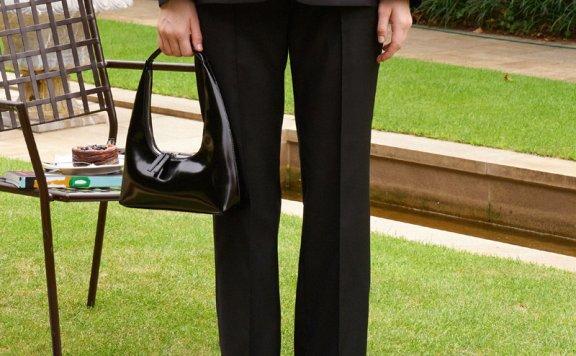 GROVE 21秋冬 韩国设计师品牌 高腰微喇裤羊毛西装长裤正品直邮