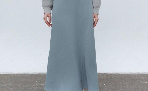 正品代购MOHAN 韩国设计师品牌 21秋冬 高腰显瘦半身裙长裙2色