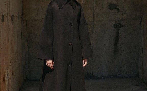 正品MOHAN 21秋冬 韩国设计师品牌 小尖领腰带款宽松羊毛大衣外套
