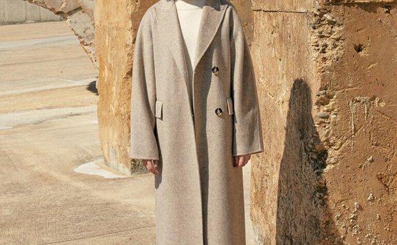 MOHAN 21秋冬 韩国设计师品牌 西装领两粒扣后开叉羊毛大衣外套